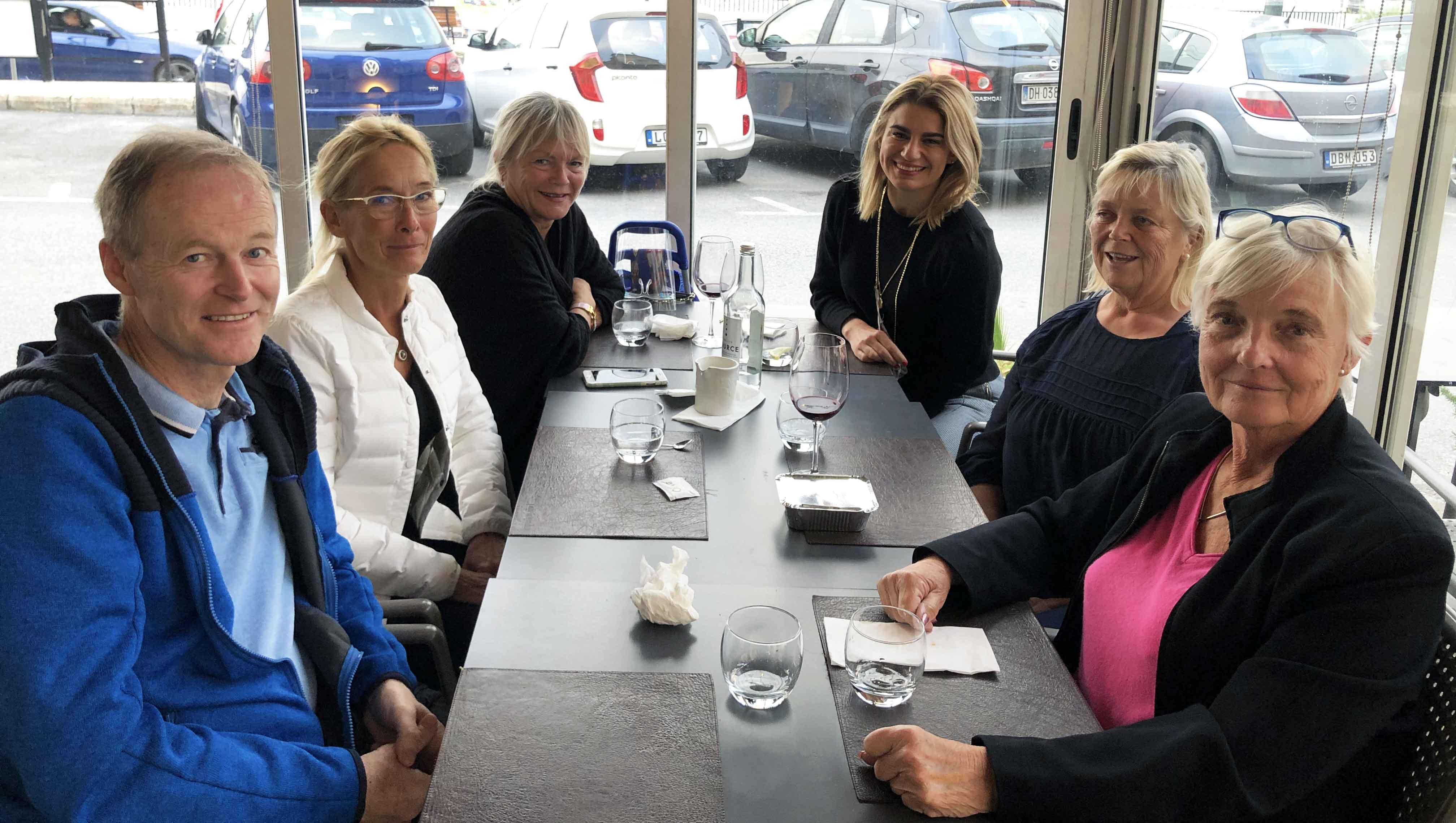 Från vänster Bengt, Ulla, Lena, Gaby, Annika och Birgitta